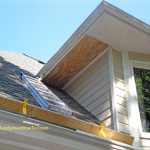 How to Repair Rotted Soffit and Fascia - Install the New Soffit